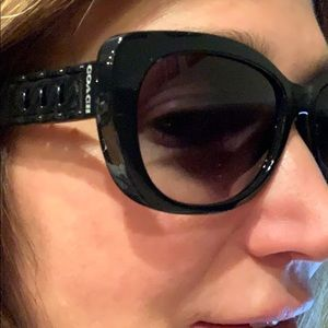 Black Coach Sunglasses with case